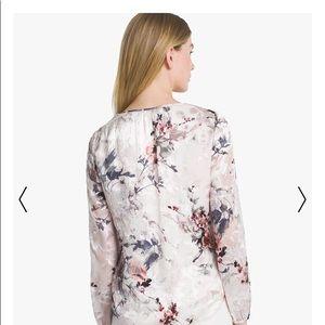 e542cd5e5ae883 White House Black Market Tops - WHBM Burnout Floral Silk Blouse - size 6   Medium